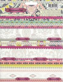 Accessorize Sweet etiketten bloemen roze (5498)