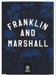 Franklin & Marshall elastomap blauw/zwart (5564)