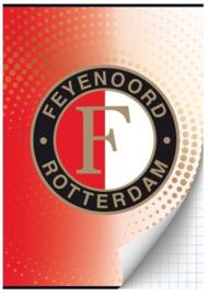 Feyenoord A4 schrift geruit (2450)