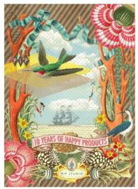 Pip Studio A4 schrift geruit kolibrie (1565)