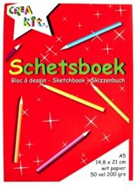 A5 schetsboek 200gr (8093)