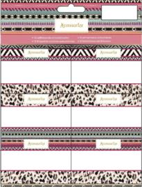 Accessorize Fashion stickers bloemen roze (2270)
