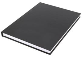 A5  gelinieerd notitieboek zwart budget (3963)
