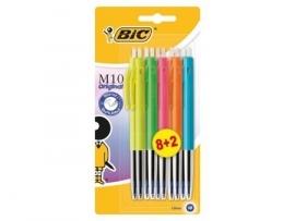 BIC M10 balpennen gekleurde behuizing (8495)