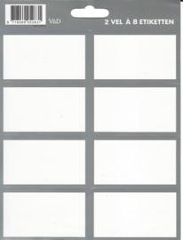 Effen zilver etiketten (2831)