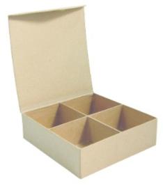 Kraft sorteerdoos / vakkendoos 4 vakken