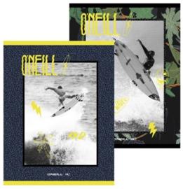 O'Neill boy's A5 schriften gelinieerd zwart/geel (3741)