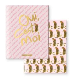 Little Diva A5 schriften lijntjes roze/goud (5744)