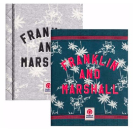Franklin & Marshall girls A5 schriften (grijs palm) (5397)