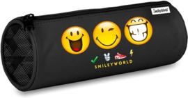 Smileyworld etui zwart rond (5766)