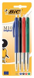 BIC M10 balpennen gekleurd 4x (8071)