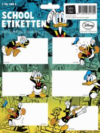 Donald Duck etiketten groen/blauw (1309)