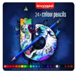 Bruynzeel Teens 24x kleurpotloden blauw (1787)