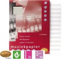 Multo muziekpapier 23 rings (5871)