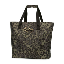 Replay shopper luipaard print