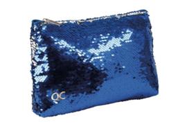 Quattro Colori Sparkle etui plat blauw paillet (4826)