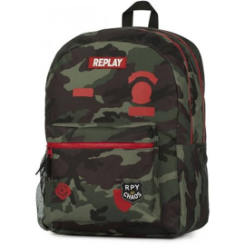 Replay boy's rugzak groot camo green