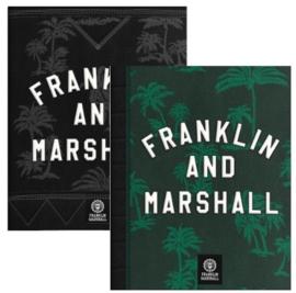 Franklin & Marshall boy's  A5 schriften groen/zwart (5359)