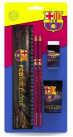 "FC Barcelona schrijfset ""zwart"" 4-delig (7256)"