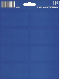 Effen blauwe etiketten (7341)