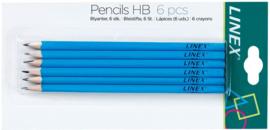 Linex HB potloden blauw (6104)