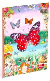 "Gingerbread schrift A4 gelinieerd ""vlinder"""