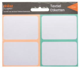 Textiel labels rekbaar kaft pastel oranje/blauw (5731)