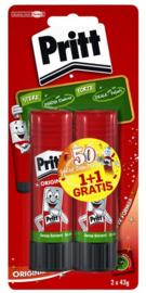 Pritt lijmstift 22 gram 1+1 gratis (0502)
