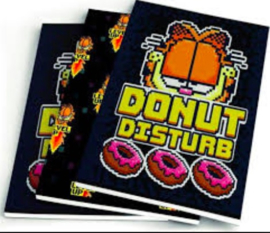 """Garfield boy's A5 schriften """"donut"""" (7103)"""