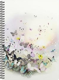 Chacha luxe A4 notitieboek gelinieerd vlinders (1380)