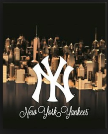 New York Yankees boy's ringband 23r zwart/goud (4725)