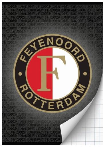 Feyenoord A4 schrift geruit antraciet
