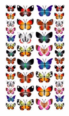 Vlinder stickers (4167)