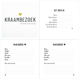 Invulboek | Kraambezoekboek | De mooiste wensen voor mij