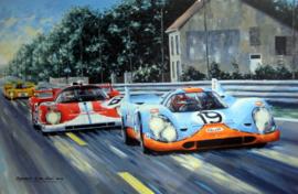 """La Poursuite Magnifique"" Le Mans 1971 - Porsche 917K/Ferrari 512S - Muller/Attwood-Manfredini-Gagliardi"
