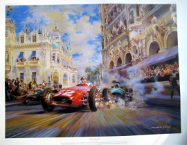 """ Dicing at Casino Square "" - Monaco Grand Prix 1937 - Maserati 250F/Juan Manuel Fangio"