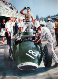 """ Rock'n Roll Pit Stop "" Grand Prix de Monza 1957 - Stirling Moss"