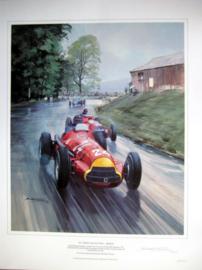 """"""" 1951 Swiss Grand Prix """" Berne - Juan Manuel Fangio winner in Alfa Romeo 159 #24."""
