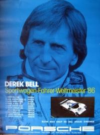 Poster/Affiche : Derek Bell - Sportwagen-Fahrer-Weltmeister 1986