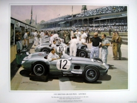 """British Grand Prix 1955 - Aintree"" - Mercedes-Benz W196 #12 #10 #14 Moss/Fangio/Kling"