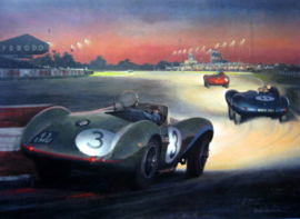 Aston Martin DB3S #3 Peter Walker Winner Goodwood 9 Hours Race 1955