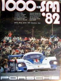 Porsche 956 - 1000 KM SPA 1982 - Poster Orginal Porsche