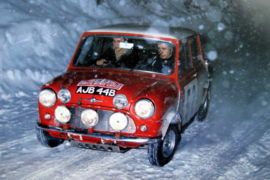 Mini Cooper S #52 Timo Mäkinen/Paul Easter - Winner Monte Carlo Rally 1957.