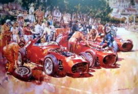 """Ferrari Team"" Monaco Grand Prix 1959 - Ferrari 246' s featuring Jean Behra"