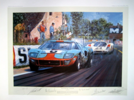 """ Race To the Line "" Ford GT40 #6 - Le Mans 1969 - Ickx/Oliver"