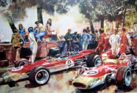 """Gold Leaf Team Lotus"" 1968 Monaco grand Prix - Lotus Cosworth Ford 49B - Graham Hill Winner"