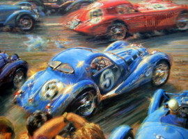 """Flying Colors"" Alfa Romeo/Talbot/Bugatti /Aston Martin - Le Mans 18/19 June 1938"