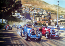 """Gentlemen Drivers "" - Bugatti Type 51/Maserati 8C-2500 - Louis Chiron/Luigi Fagioli"