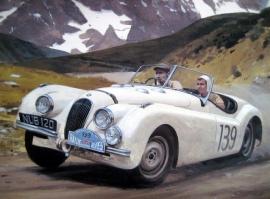 """Alpine Trial"" - Jaguar XK120 Alpine Rally 1950"