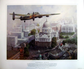 """In Remembrance"" Lancaster flew over St.Paul's Cathedral - Sixty Years on"